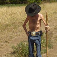 skinny farmer guy