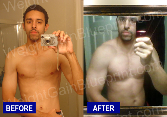 Gabriel gains 40 pounds using the weight gain blueprint muscle gabriel garay before and after weight gain blueprint malvernweather Gallery